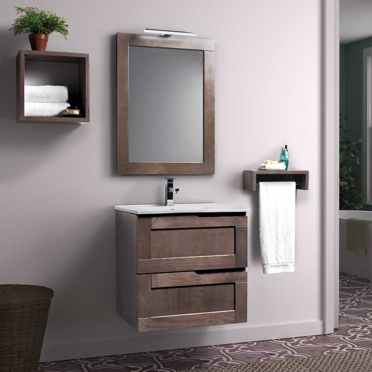 Mueble de ba o nuevo alba 60 cm de la serie de ba o nuevo - Muebles de bano rusticos online ...