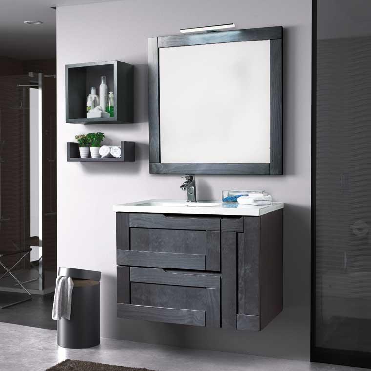 Mueble de ba o nuevo alba 80 cm de la serie de ba o nuevo - Como hacer mueble de bano ...
