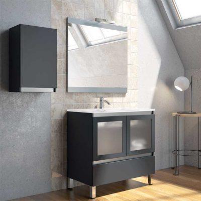 Mueble de Baño Aras 60 cm. Puertas Cristal