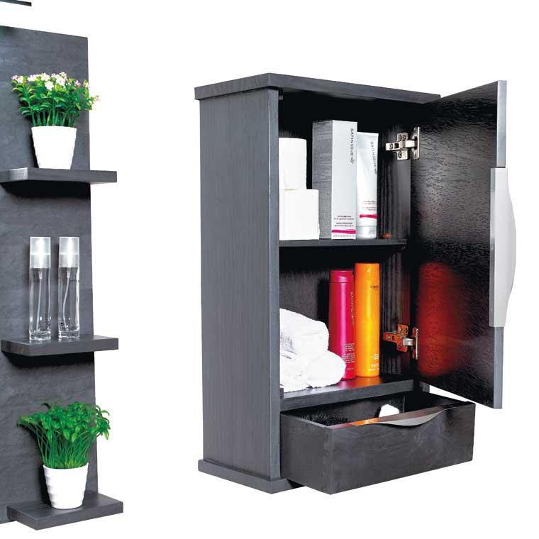 Mueble auxiliar ba o colgar sheila armario de la serie de - Muebles de bano de forja ...