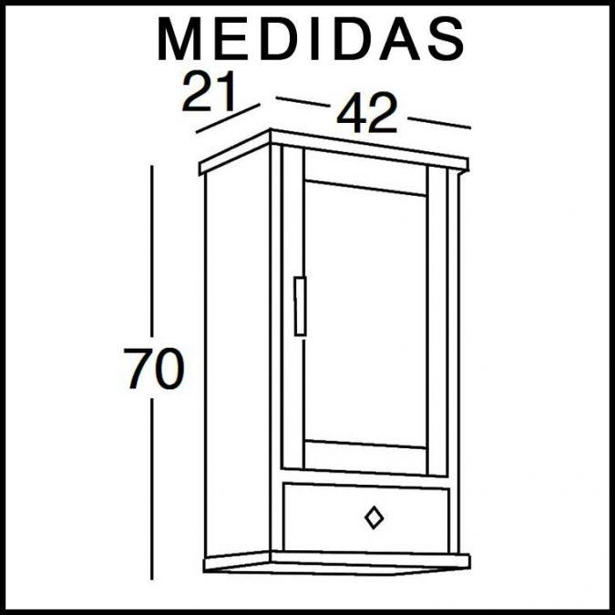 Medidas Mueble Auxiliar Baño de Colgar Sofía