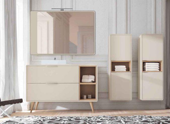 Ambiente Mueble de Baño Vintage 2C 2 Cajas y Tapa