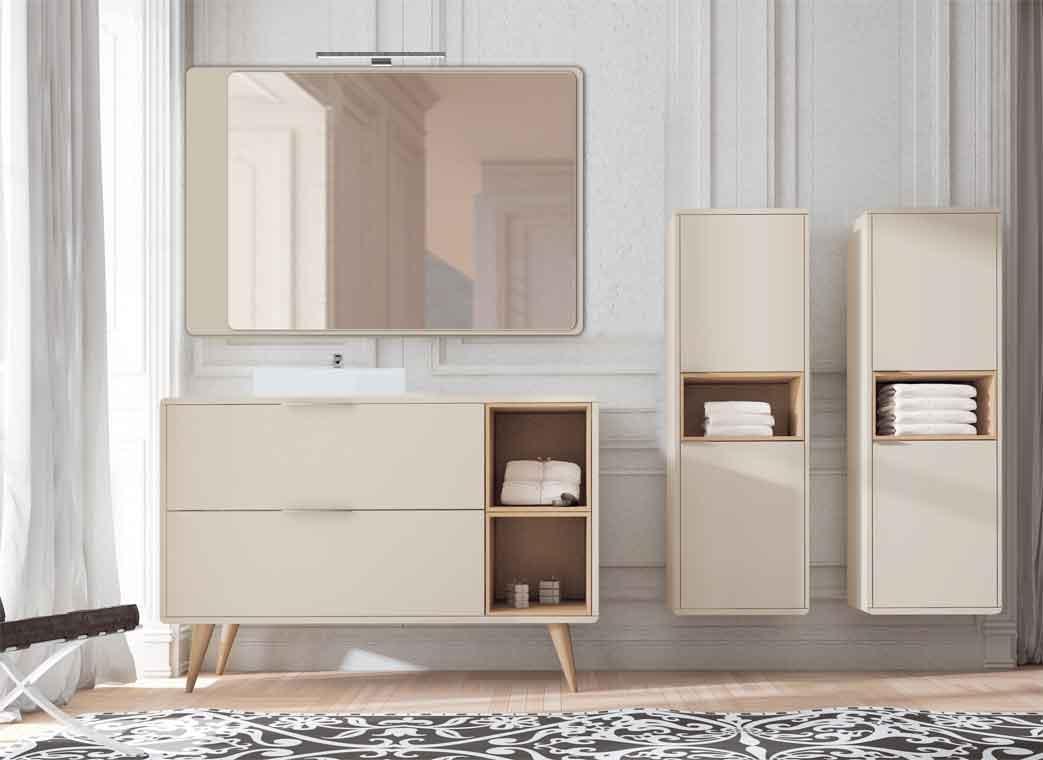 Mueble de ba o vintage 2c cajas 90 cm de la serie for El mueble online