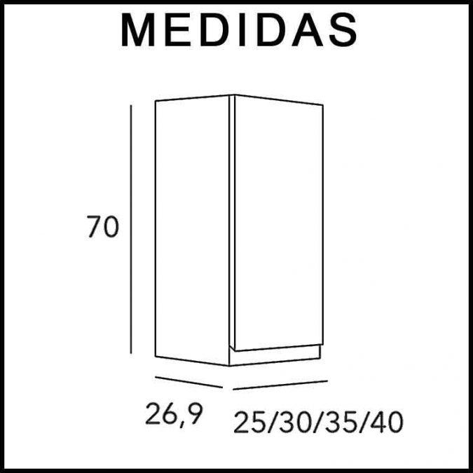 Medidas Mueble Auxiliar Baño de Colgar 1P Aqua