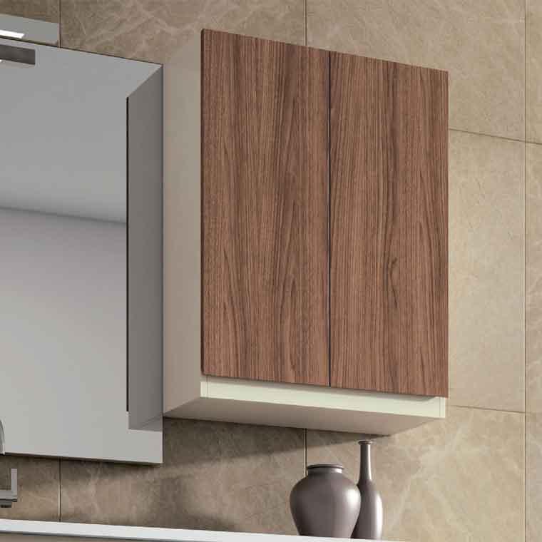 Mueble auxiliar de ba o de colgar 2p aqua de la serie de for Mueble auxiliar bano