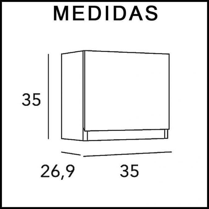 Medidas Mueble Auxiliar Baño de Colgar Dado Aqua