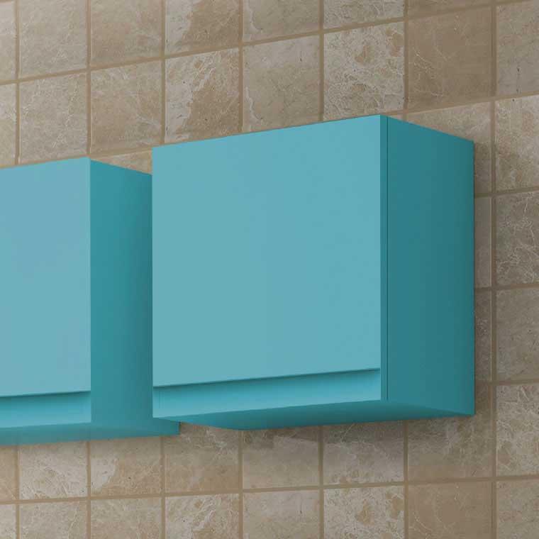 Mueble auxiliar de ba o de colgar dado aqua de la serie de ba o aqua - Muebles de bano para colgar ...