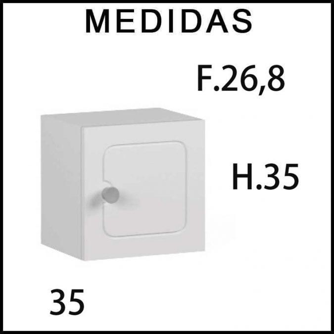 Medidas Mueble Auxiliar Baño de Colgar Dado Dalma