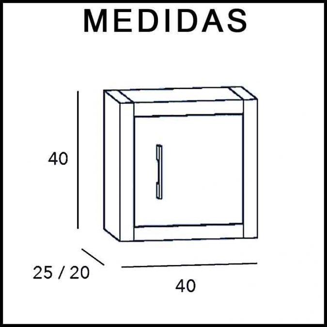 Medidas Mueble Auxiliar Baño de Colgar Dado Diamant