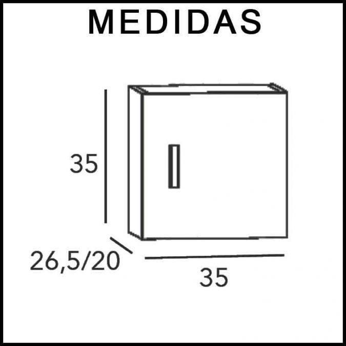 Medidas Mueble Auxiliar Baño Colgar Dado Aroa