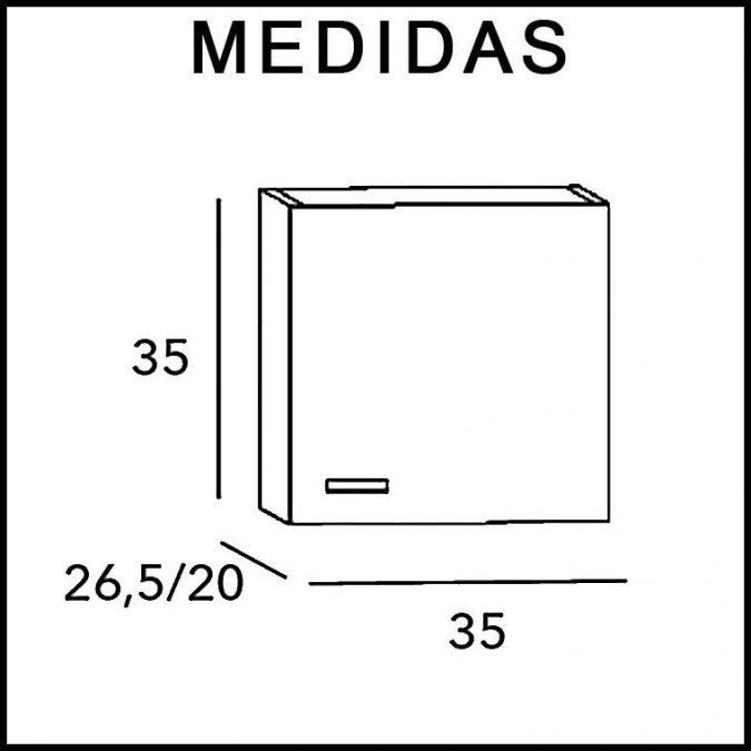 Medidas Mueble Auxiliar Baño Colgar Dado Vega