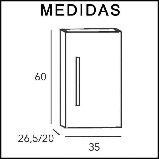 Medidas Medidas Mueble Auxiliar Baño Colgar Neos