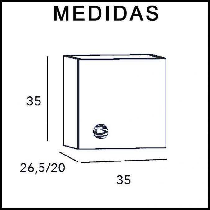 Medidas Mueble Auxiliar Baño Colgar Dado Piccolo