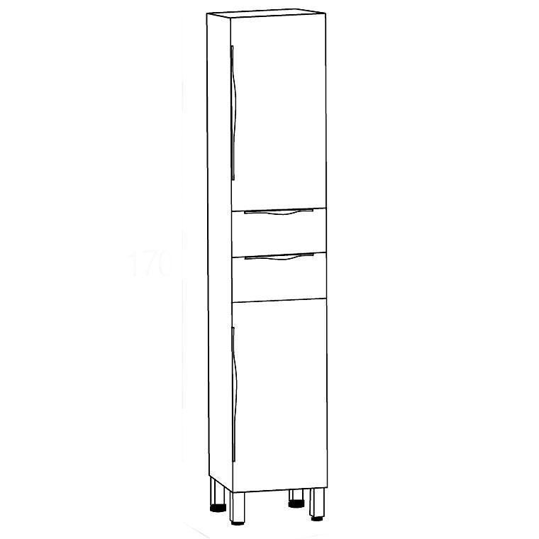 Mueble auxiliar de ba o de pie noa armario de la serie de for Mueble auxiliar alto