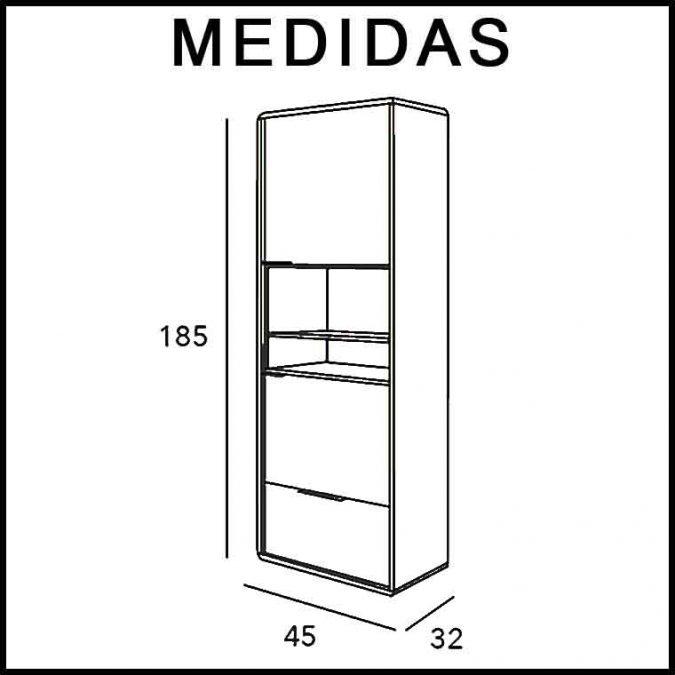 Medidas Mueble Auxiliar Baño Columna de Pie Vintage