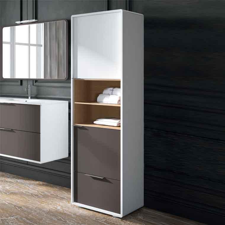 Auxiliar de ba o columna vintage de la serie de ba o for Muebles altos de bano