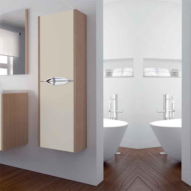 Auxiliar de ba o suspendido mar camp de la serie de ba o for Mueble auxiliar lavabo