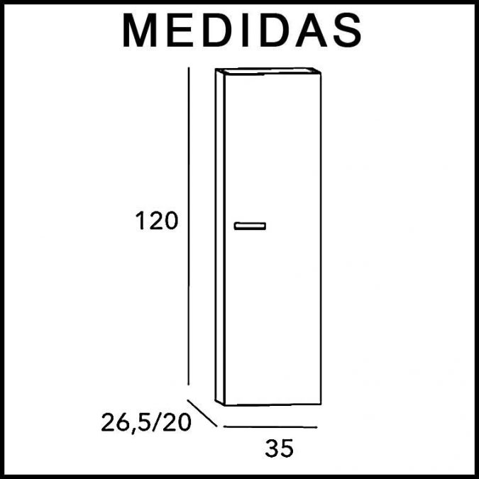 Medidas Mueble Auxiliar Baño Suspendido Vega