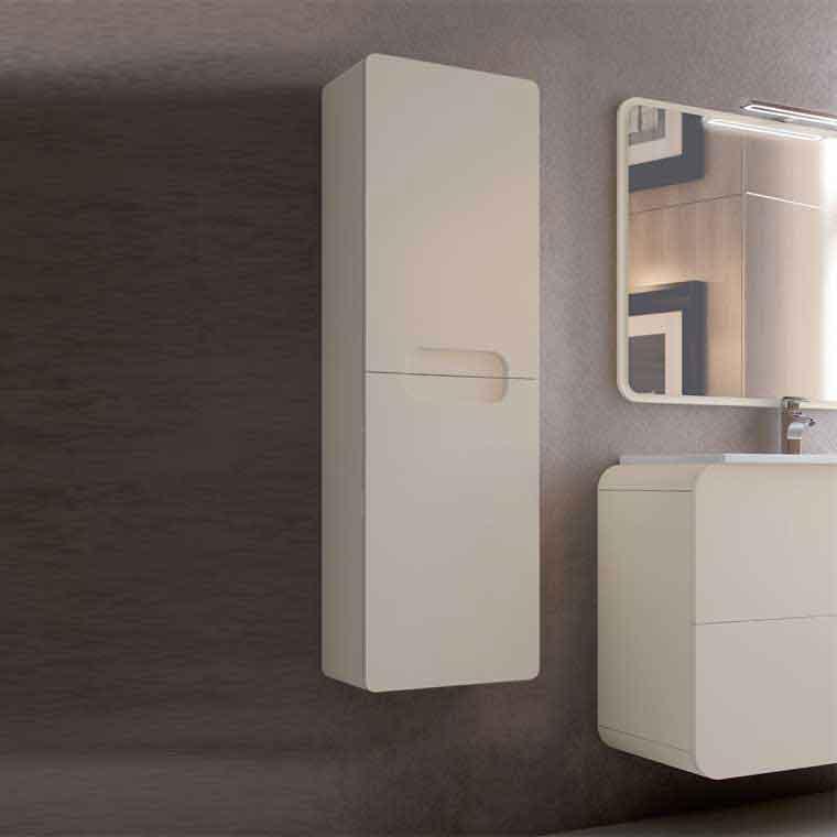 Mueble auxiliar de ba o suspendido zoe de la serie de ba o for Mueble auxiliar lavabo