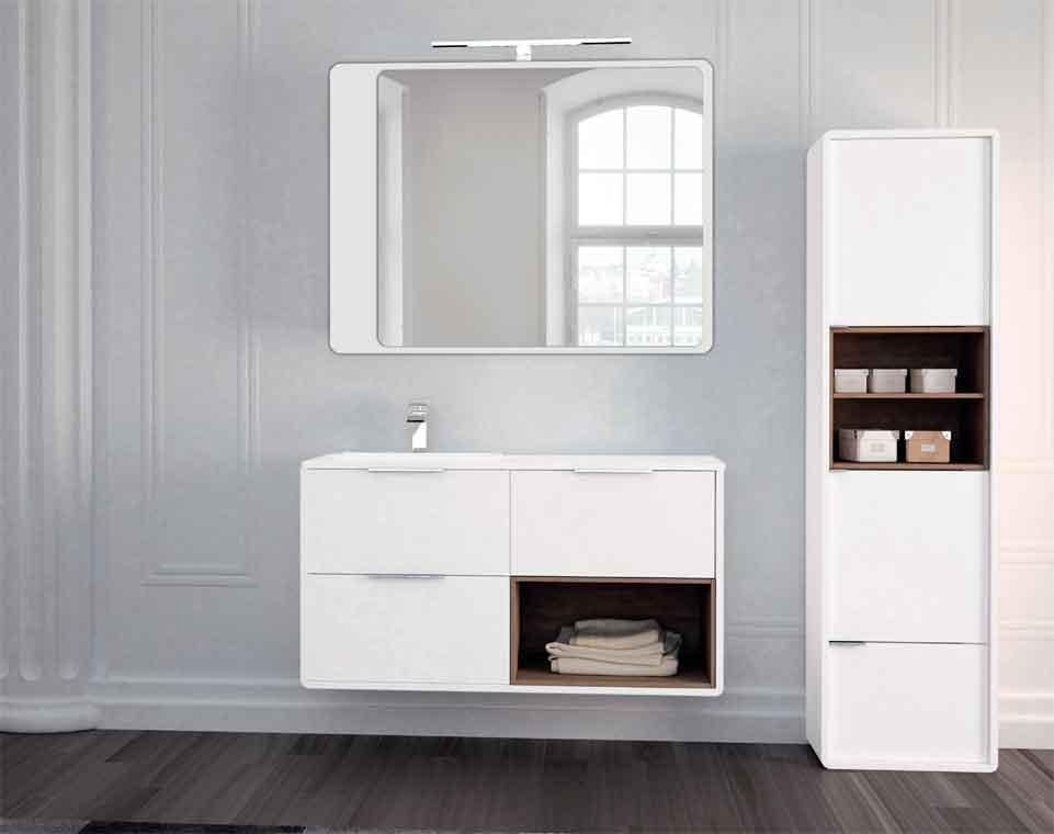 Mueble de ba o vintage 3c y caja 140 cm de la serie for Muebles de bano 140 cm