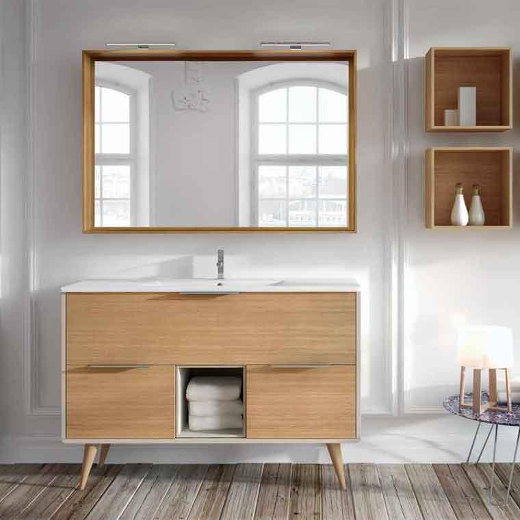Mueble de ba o vintage 120 cm 3c y caja de la serie for Banos modernos vintage