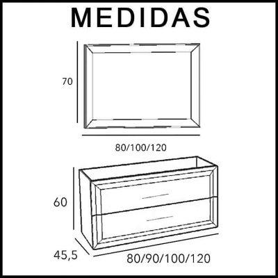 Medidas Muebles de Baño Alda