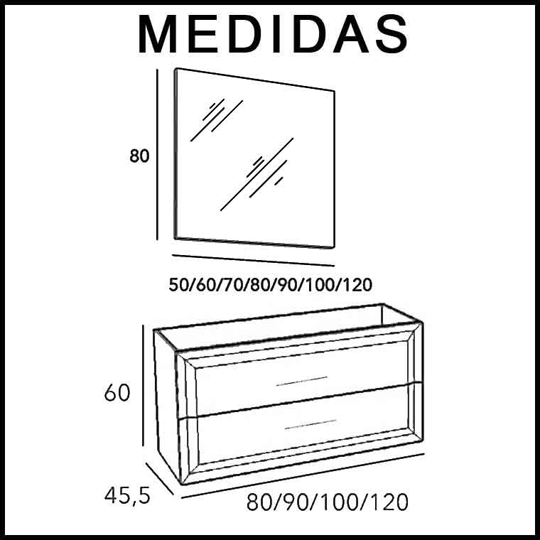 Mueble De Ba O Alda 90 Cm Mueble De La Serie De Ba O Alda