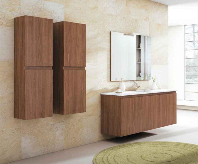 Ambiente Mueble de Baño Aqua Suspendido 1C 2P 140 cm.