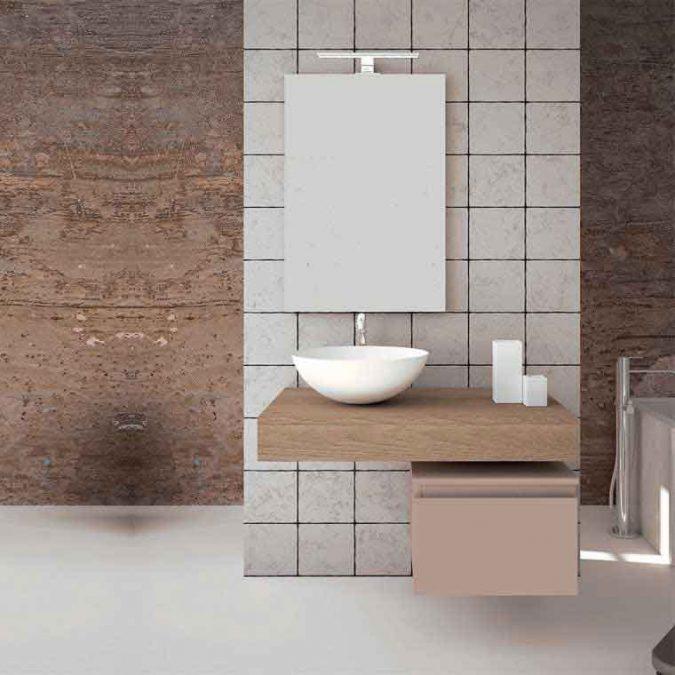 Mueble de Baño Aqua Suspendido 1C 80 cm.