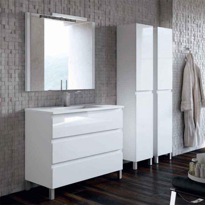 Mueble de Baño Aqua Suelo 3C con Patas 100 cm.
