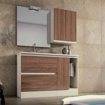 Mueble de Baño Aqua Suelo 2C, 1P, 1T, 120 cm.