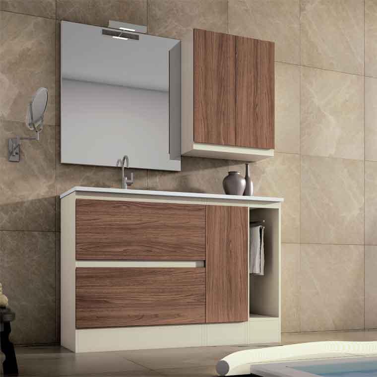 Mueble de ba o aqua suelo 2c 1p 1t 120 cm de la serie - Muebles de bano 120 cm ...