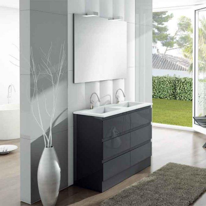 Mueble de Baño Aqua Suelo 6C 120 cm.