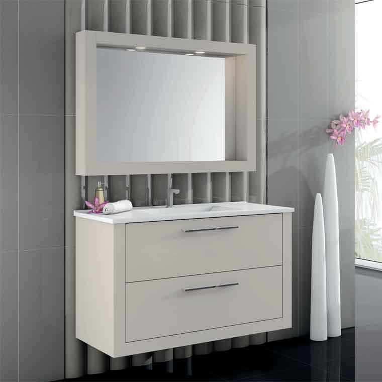 Mueble de ba o diamant 80 cm mueble de la serie de ba o for Mueble alto para bano