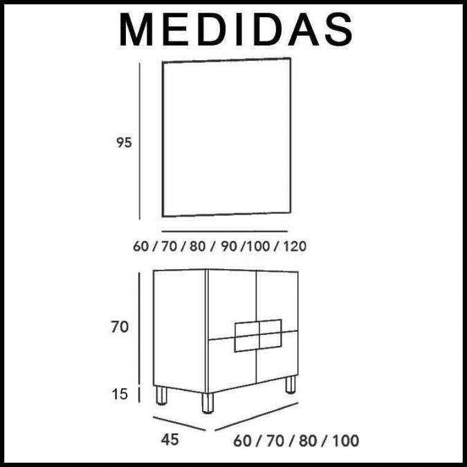 Medidas Mueble de Baño Kuve