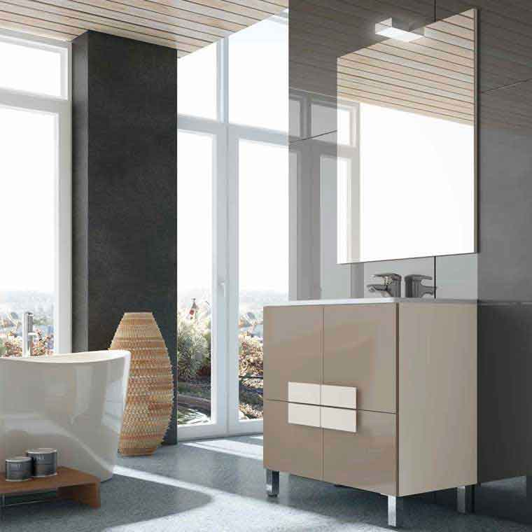 Mueble de ba o kuve 80 cm mueble de la serie de ba o kuve - Mueble bano 80 cm ...