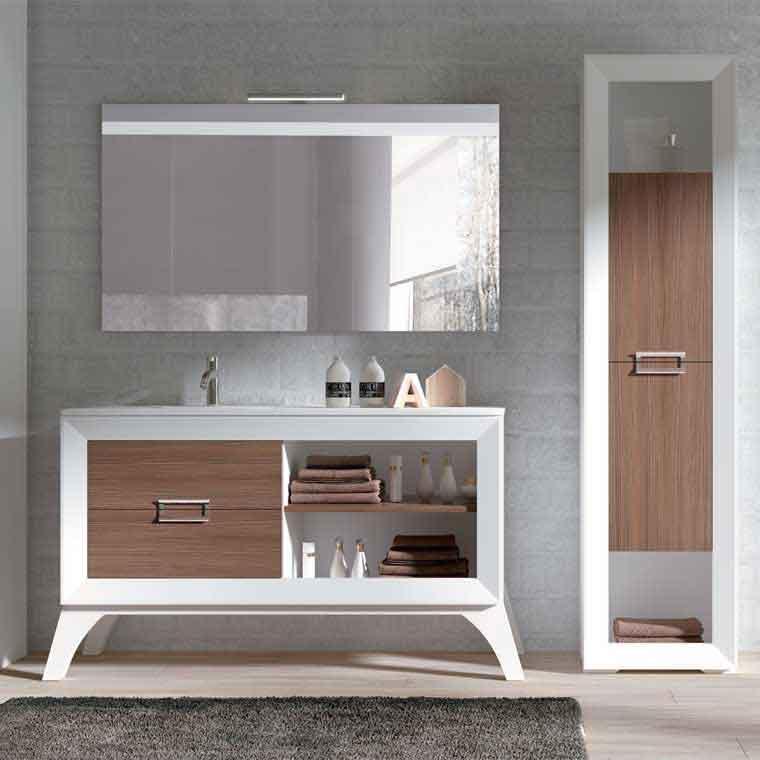 Mueble de ba o l gant 2c 1h 140 cm de la serie de ba o l for Muebles de bano 140 cm