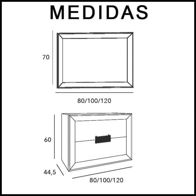 Medidas Mueble de Baño L-Gant 2C