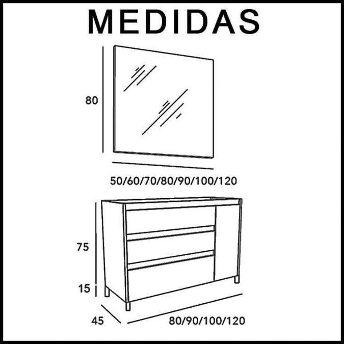 Medidas Mueble de Baño Liam