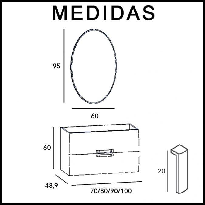 Medidas Mueble de Baño Murano