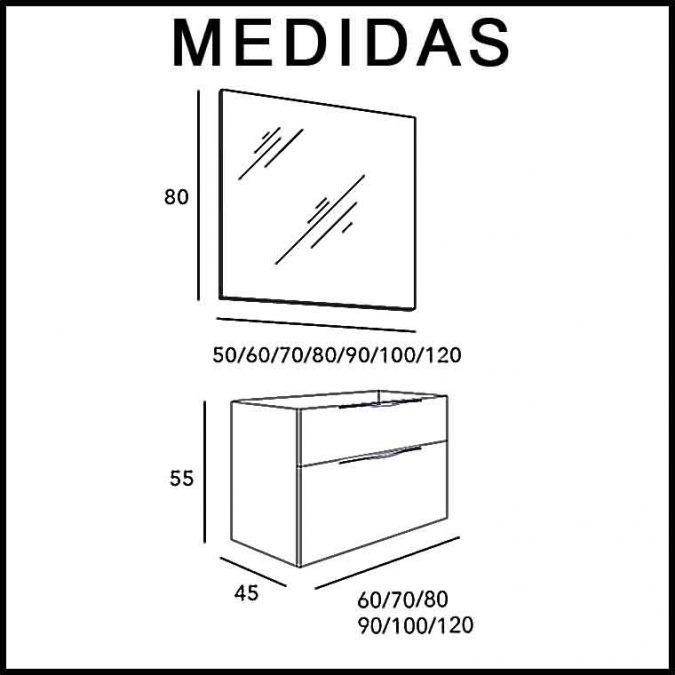 Medidas Mueble de Baño Noa