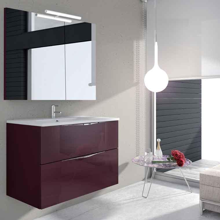 Mueble de ba o noa 2c 80 cm mueble de la serie de ba o noa for Mueble 80 cm ancho