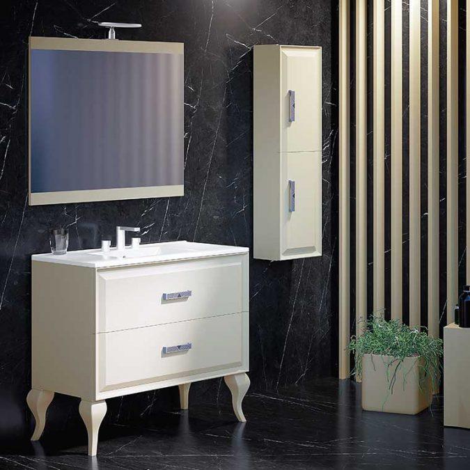 Mueble de Baño Alda con espejo Cue y patas