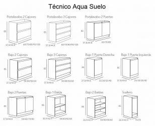 Técnico Muebles de Baño Aqua Suelo