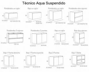 Técnico Muebles de Baño Aqua Suspendido