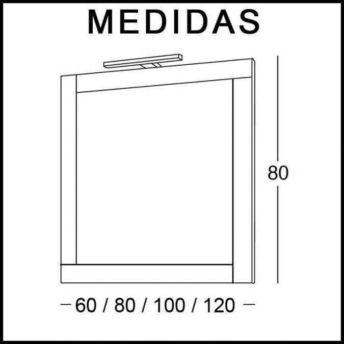 Medidas Espejos de Baño Adriana