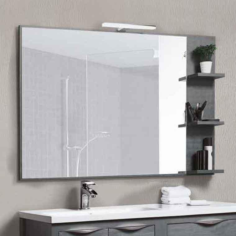 Espejo de ba o con baldas sheila espejo de la serie de for Focos para espejos de bano