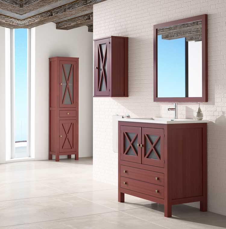 Mueble de ba o kin de 80 cm mueble de la serie de ba o kin - Muebles de bano de 80 cm ...