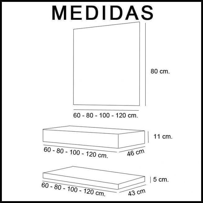 Medidas Muebles de Baño Lor