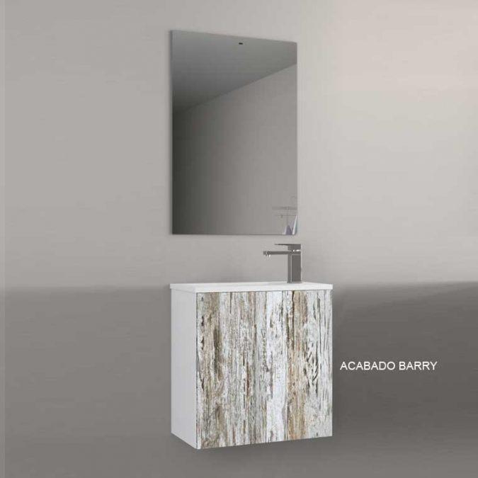 Mueble de Baño Petit 50 cm. 1 Puerta. Frente Laminado Barry